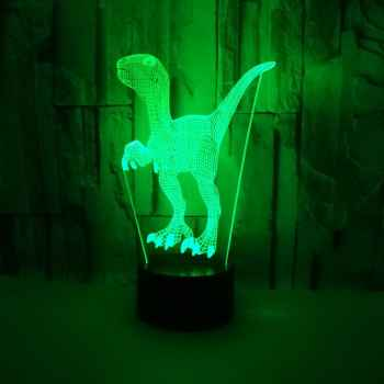 3W Dinosaur 7Color LED Night Light New exotic 3d Lamp Toys Gift For Party Living Room Decoration D30 Kid Gifts - Category 🛒 All Category
