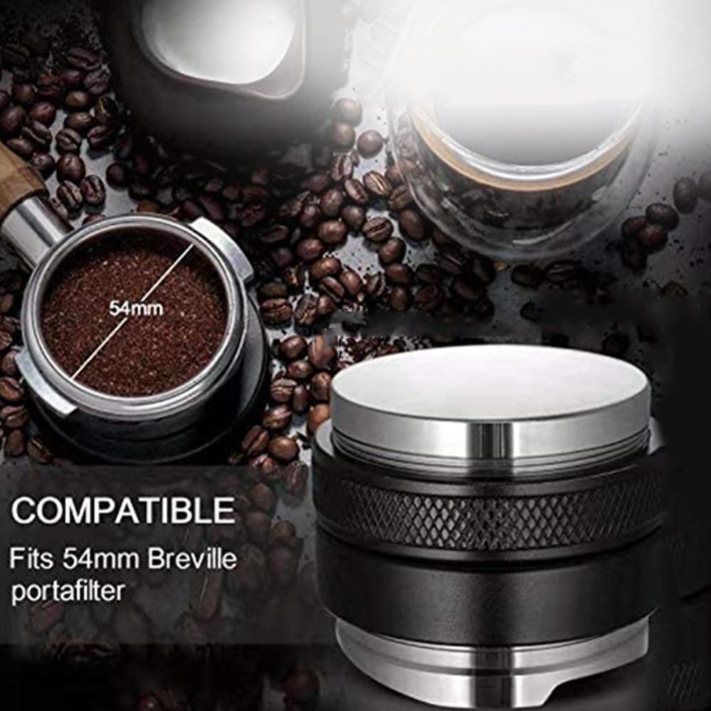 53mm Coffee Distributor Tamper Dual Head Coffee Leveler Adjustable Depth Espresso Hand Taper for 54mm Portafilter Kithchen Tool