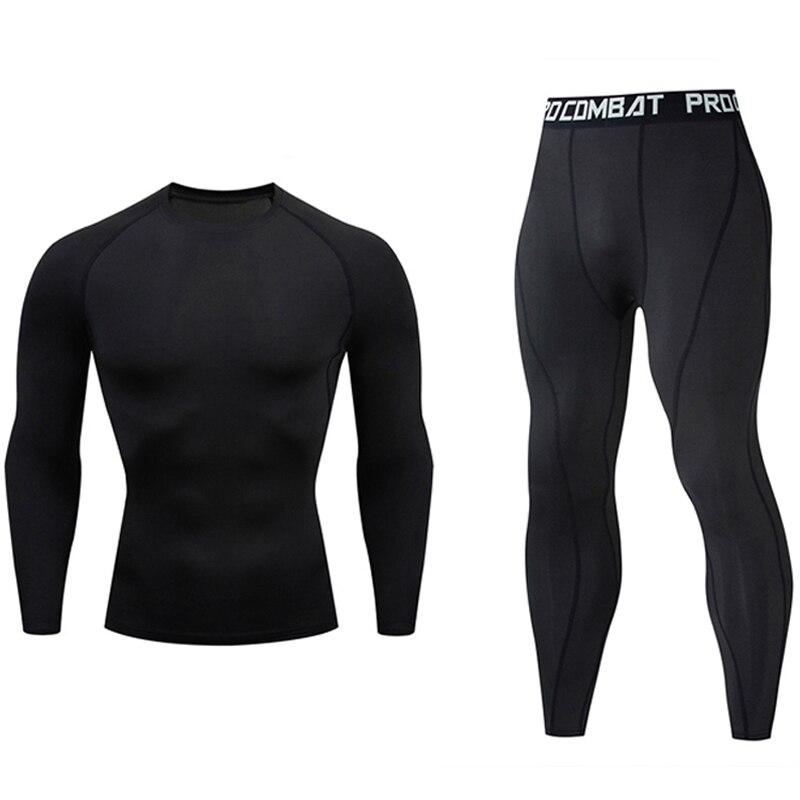Brand Thermal Underwear Men's Compression  Winter Long Johns Winter Thermal Underwear Tights  Warm Base Layer Jogging Suit Men