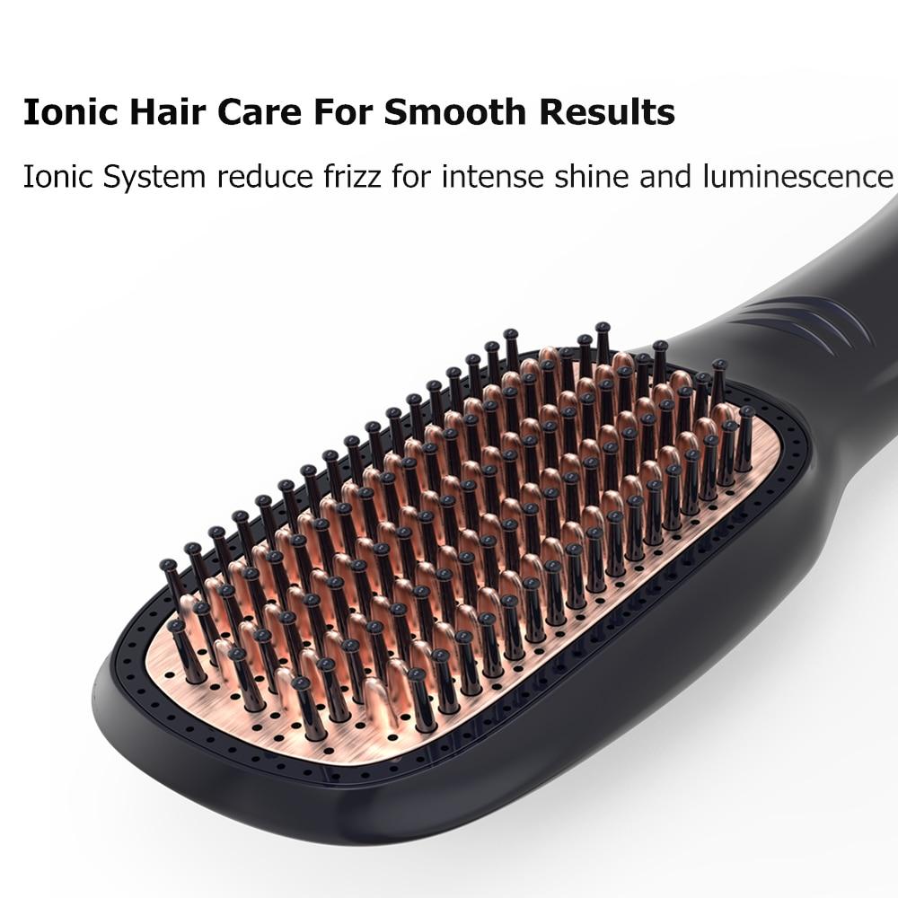 Um-passo cerâmica secador de cabelo alisador escova