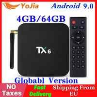 Android 9.0 Smart TV Box TX6 Tanix Allwinner H6 4GB RAM 64GB ROM 32G 4K 2,4G /5GHz Dual WiFi 2G16G PK Q Plus Mini Media Player