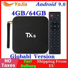 Android 9,0 caja de TV inteligente TX6 Tanix Allwinner H6 4GB RAM 64GB ROM 32G 4K 2,4G/5 GHz Dual WiFi 2G16G PK Q Plus Mini reproductor de medios(China)