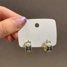 Женские винтажные серьги гвоздики mengjiqiao корейские милые