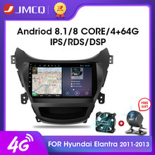 Jmcq 2din Android 9.0 Car Radio Multimidia Video Player Navigasi GPS RDS DSP Auto Radio untuk Hyundai Adalah Elantra 2011-2013 kepala Unit(China)