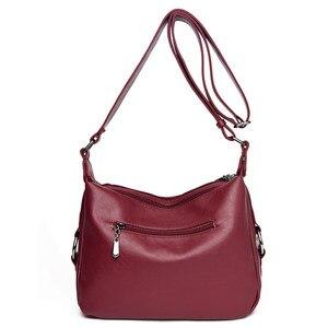 Image 5 - Luxuryกระเป๋าถือผู้หญิงกระเป๋าออกแบบกระเป๋าหนังนุ่มผู้หญิงCrossbody Messengerกระเป๋าสุภาพสตรีVintageกระเป๋าสะพายยี่ห้อที่มีชื่อเสียง
