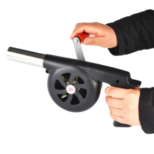 Large Outdoor Hand-Cranked Combustion Blower Manual Barbecue Picnic Camping Fire-supporting Hairdryer for BBQ Cooking