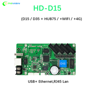 Image 2 - Best price Huidu HD D35 with HUB75 D15 taxi roof bus full color rgb led sign panel controller card with WIFI 4G wireless GPS