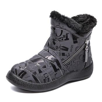 Kobiety zimowe buty śniegowe nowy modny styl obuwie damskie buty na platformie wodoodporna ciepła kobieta kobieta Botas Botines Mujer tanie i dobre opinie KUIDFAR Wiszący ANKLE zipper KAMUFLAŻ winter women boots Płaskie z BUTY NA ŚNIEG Pluszowe okrągły nosek Zima RUBBER