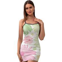 Daisy Dress Tight Short Polyester Bodycon Teen Pattern Summer Fashion One-Piece