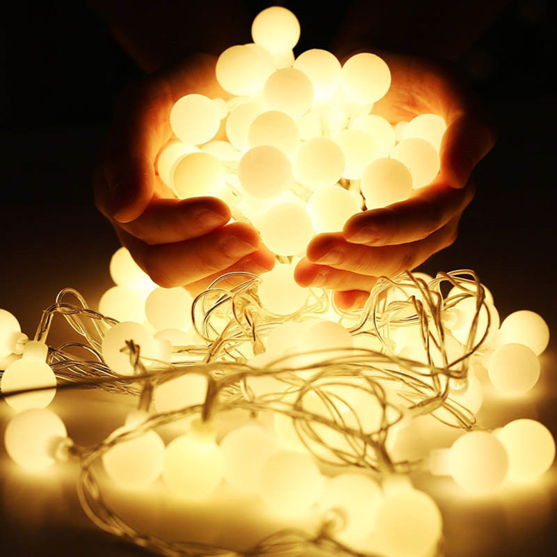 5m 50 LED Fairy Light Christmas Outdoor String Lights Garland Waterproof Wedding Party Tree Holiday 220V EU Home Decoration Lamp(China)