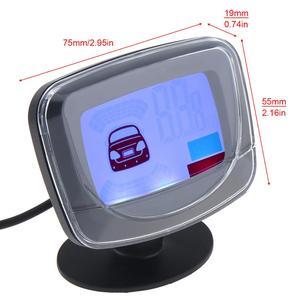 Image 5 - ユニバーサル車の自動車の led 駐車センサーシステム 4 センサー車のバックアップデュアル cpu モニターシステムとステップアップアラーム lcd ディスプレイ