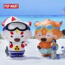 POP MART Goobi çocuk fox lil foxes yaz serisi hayvan hikayesi oyuncaklar kör kutusu bebek ikili aksiyon figürü doğum günü hediyesi