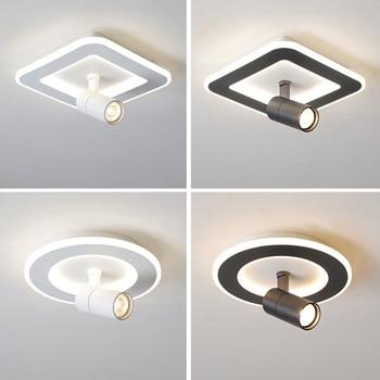 Adjustable Modren LED Ceiling Lights For Living room Bedroom Aisle Store Black/White plafonnier Ceiling Lamp Lighting Fixtures