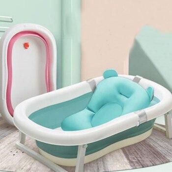 Składane Wanna Dla Dzieci Składany Wózek Dla Dziecka Prysznic Wanna Z Poduszka Na Zagłówek Przyjazne Dla środowiska Noworodka Wanna Bezpieczne Regulowane Do Kąpieli Dla Dzieci