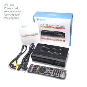 Image 5 - Vmade 2019 najnowszy DVB T / DVB T2 zbudowany RJ45 H.265/ HEVC HD odbiornik naziemnej telewizji cyfrowej wsparcie Youtube M3U DVB TV, pudełko