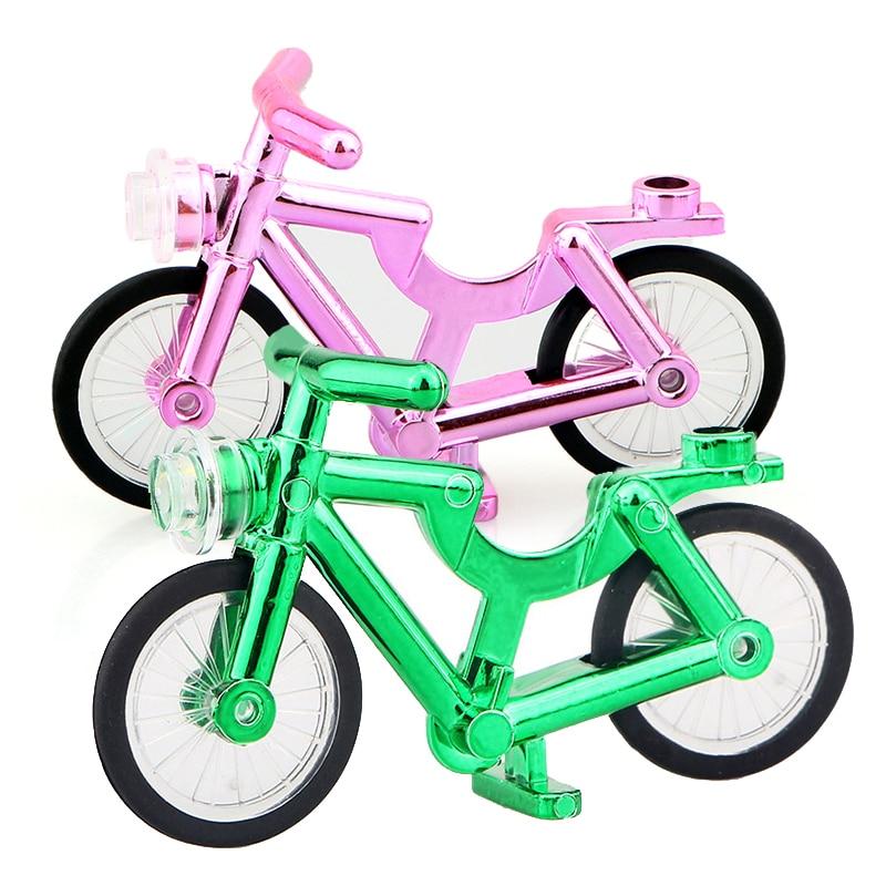 PG921 PG923 хромированная Серебристая игрушка для велосипеда, строительные блоки, сделай сам, классика, лучший день рождения, лучшие MOC Развивающ...