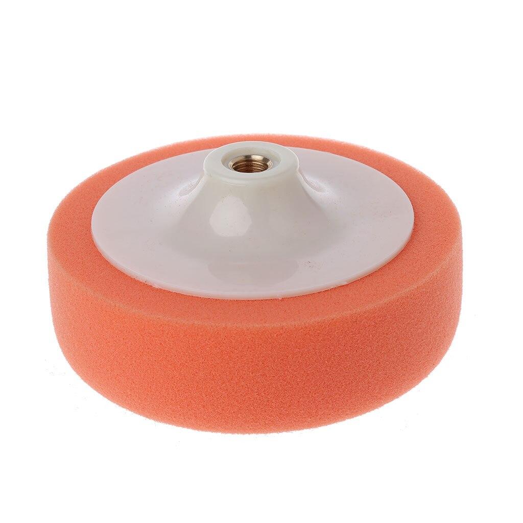 6 Inch 15cm Auto Car Polishing Buffing Polishing Pad Sponge Wheel Waxing Orange