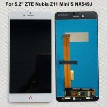 Orijinal test AAA 5.2 inç lcd ekran + dokunmatik ekranlı sayısallaştırıcı grup akıllı telefon değiştirme için ZTE nubia Z11 mini S NX549J