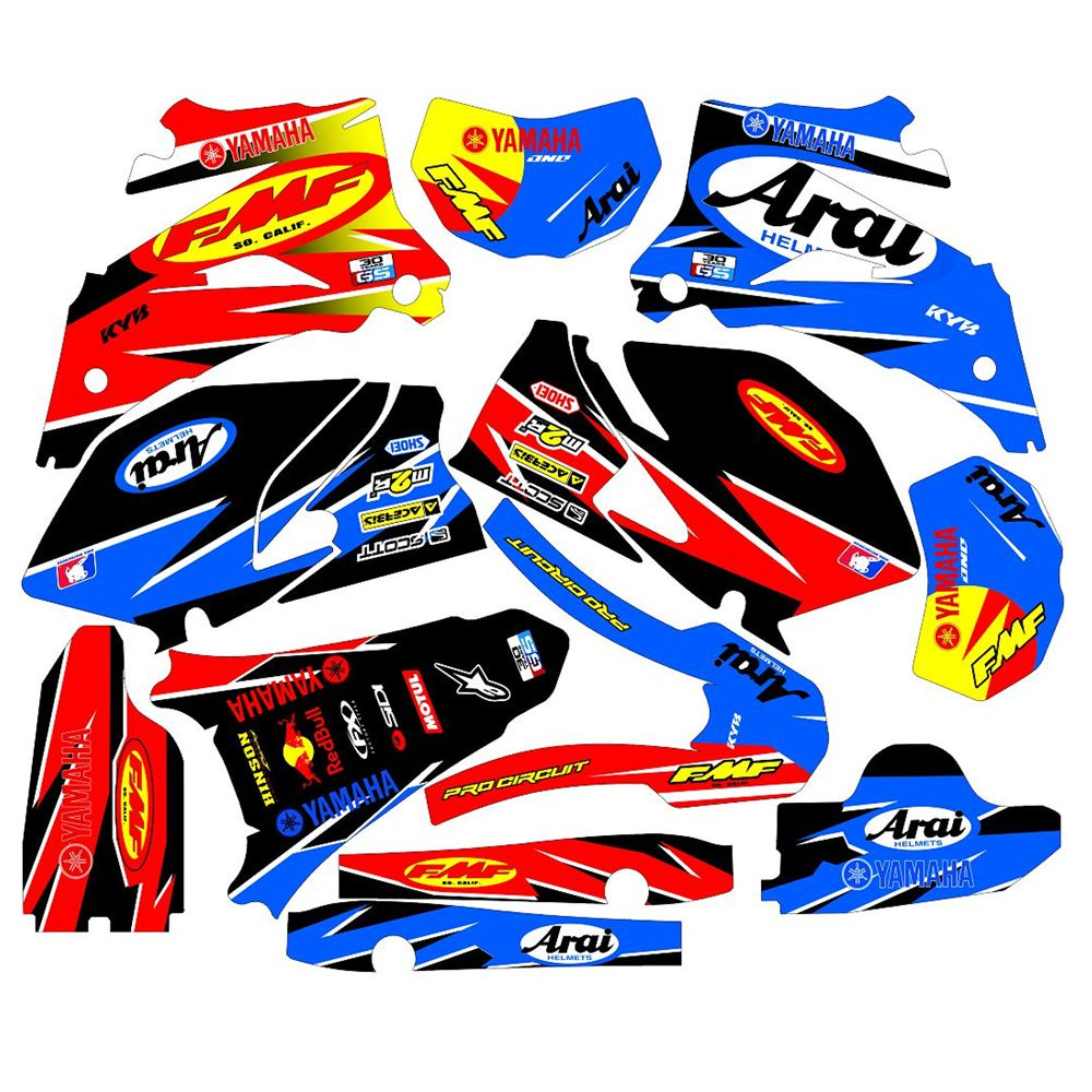 Full Graphics Decals Stickers Custom Number Name 3M Bright Stickers Waterproof For YAMAHA WR250F 2007-2014 And 450F 2007-2011