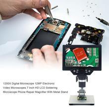 New 1200X Digital Microscope 12MP Electronic Video