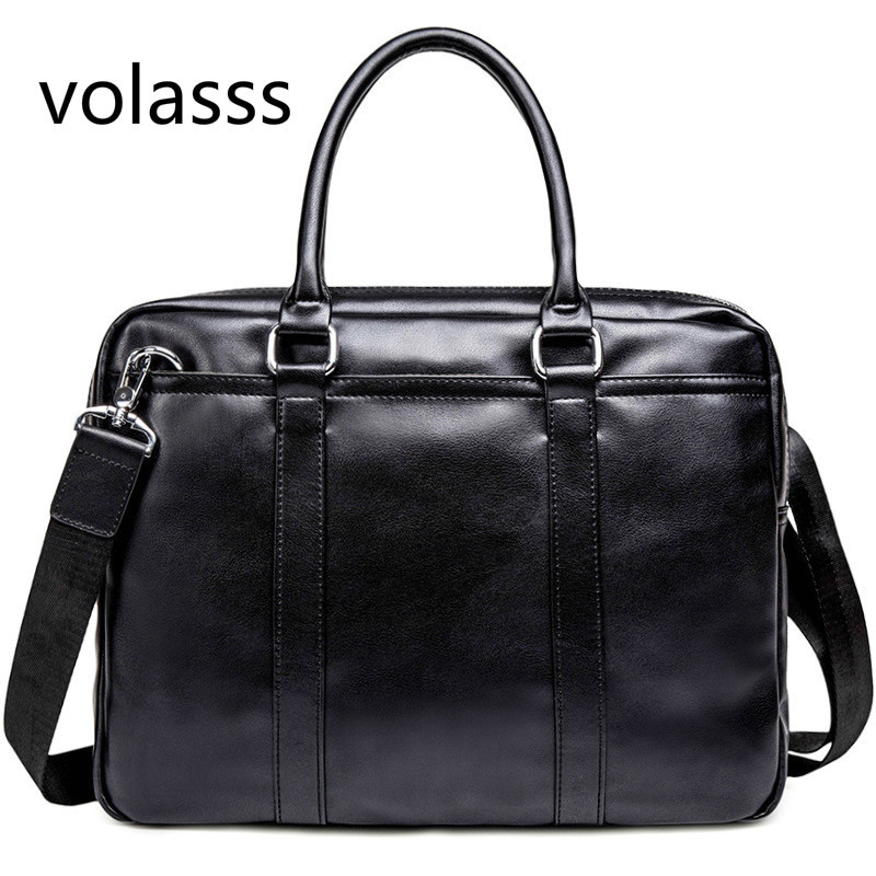 2020 Men's Leather Business Briefcase Casual Shoulder Bag Messenger Laptop Handbag New Travel Bags Bolso Hombre Office Men Bag