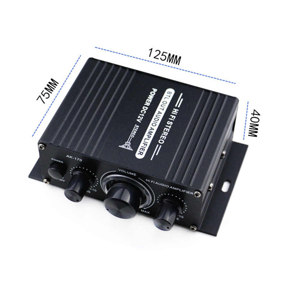 ak170 mini amplificateur hi fi 12v pour voiture et moto caisson de basses radio canal mp3 son stereo