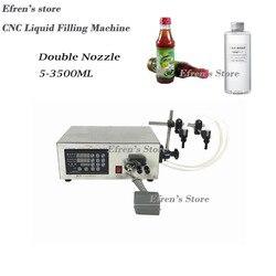 Double Head Liquid Filling Machine Microcomputer Automatic Water Liquid Filling Machine 5-3500ML
