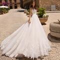 Fsuzwel изящные свадебные платья трапециевидной формы с аппликацией и рукавами-крылышками 2020 роскошное свадебное платье принцессы с бусинами ...