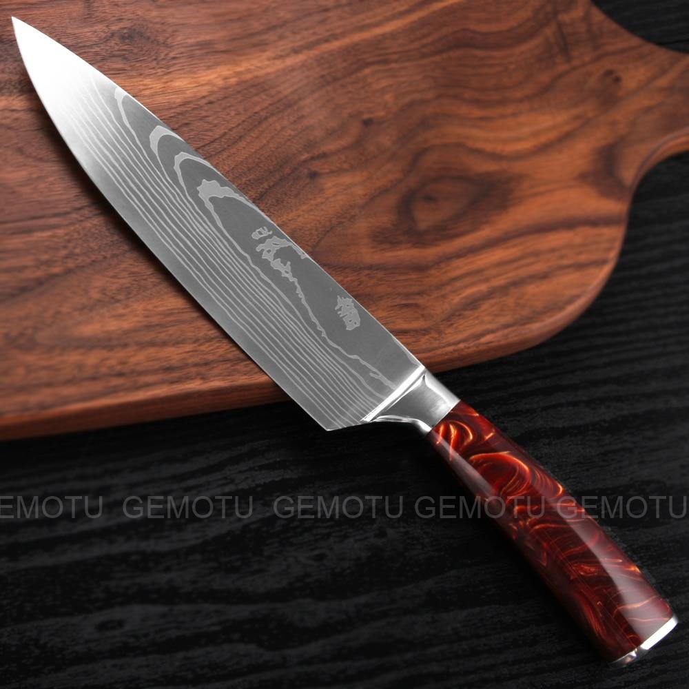 Высококачественные Универсальные поварские ножи gemotu 7cr17