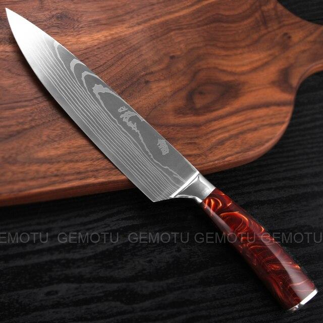 высококачественные универсальные поварские ножи gemotu 7cr17 фотография