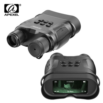 APEXEL Digital Night Vision Binoculars With Video Recording HD Infrared Day And Night Vision Hunting Binoculars Telescope wildgameplus wg500b 1080p hd night vision binoculars optical 10 8x31 zoom digital night vision binocular hunting telescope night