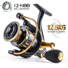 NEW X3 12.5kg Max Drag Fishing Reel 1000-7000 Spinning Reel 8kg Max Drag Reel Fishing 5.0:1Speed Metal Spool no gap Coil Fishing