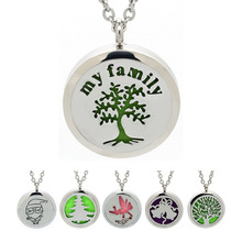 BOFEE Aromatherapy Perfume Necklace Pendant Silver Christmas Stainless Steel Air Freshener Magnetic Essential Oil Locket Gift