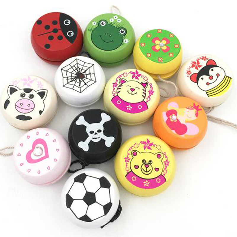 4.8cm Lovely Wooden Yo Yo Personality Creative Building Personality Sport Hobbies Classic Yoyo Toys For Children Christmas