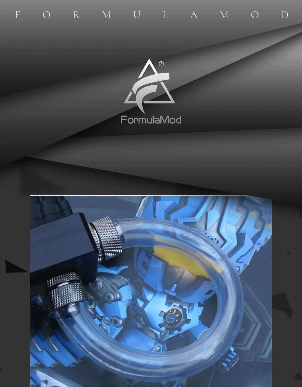 """FormulaMod Fm-4FHG, 1/"""" ID* 6/8"""" OD 13x19 мм мягкие трубки, для строительства трубопровода системы водяного охлаждения, 1 метр/шт"""