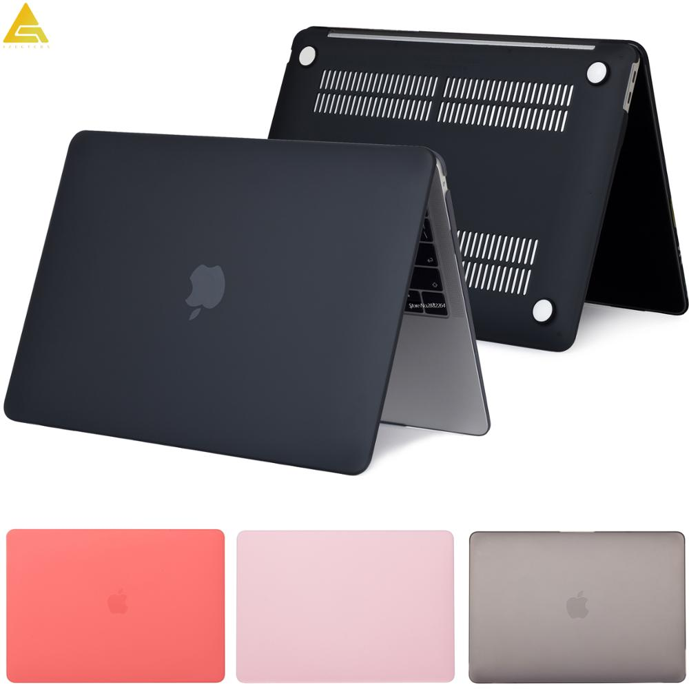 Matte completa caso do portátil para macbook pro 16 2019 retina 11 12 15 15.4 nova barra de toque para macbook ar 13.3 a2179 pro 13 a2159 2019