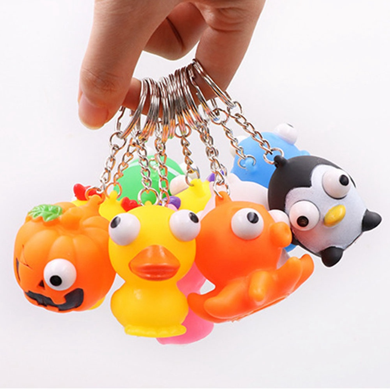 1 PCS Pinch Burst Out Animal Eyes Protrude Doll Decompression Toys Vent Squeeze Toy Anti-stress Christmas Gifts