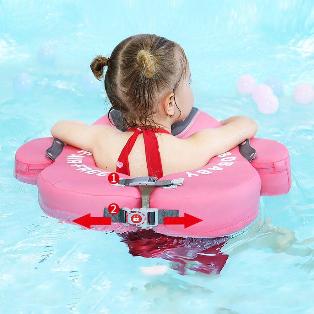 UV-protection Pool Lifebuoy Baby Swim Float Swimming Ring Baby Floating No Need Inflatable Underarm Floats Cartoon Swim Trainer