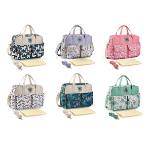 Image 5 - New Print Diaper Bag Waterproof Large Capacity Baby Bags for Mom Multifunction Stroller Maternity Bag Baby Care 10 Colors