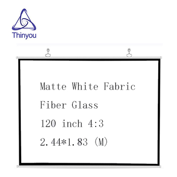 Thinyou  120inch 4:3 Matte White Fabric Fiber Glass Projector Screen wall Mounted For Home Theater Office LED DLP Proyector