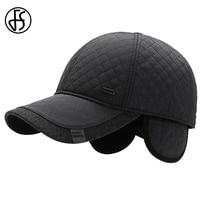 Fs 2021 design da marca bonés de beisebol de meia-idade para homens feminino à prova de vento xadrez inverno earflap boné de veludo quente mais grosso chapéus de pai