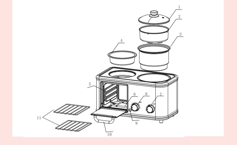 torradeira forno cozimento omelete fritar pan panela
