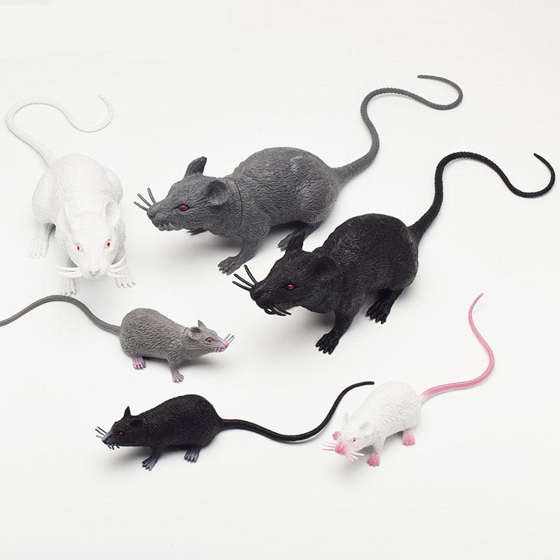 1PCS Funny Tricky Joke Fake Lifelike Mouse Model  Halloween Gift Toy Party Halloween Horror Toys Kids Novelty & Gag Toys
