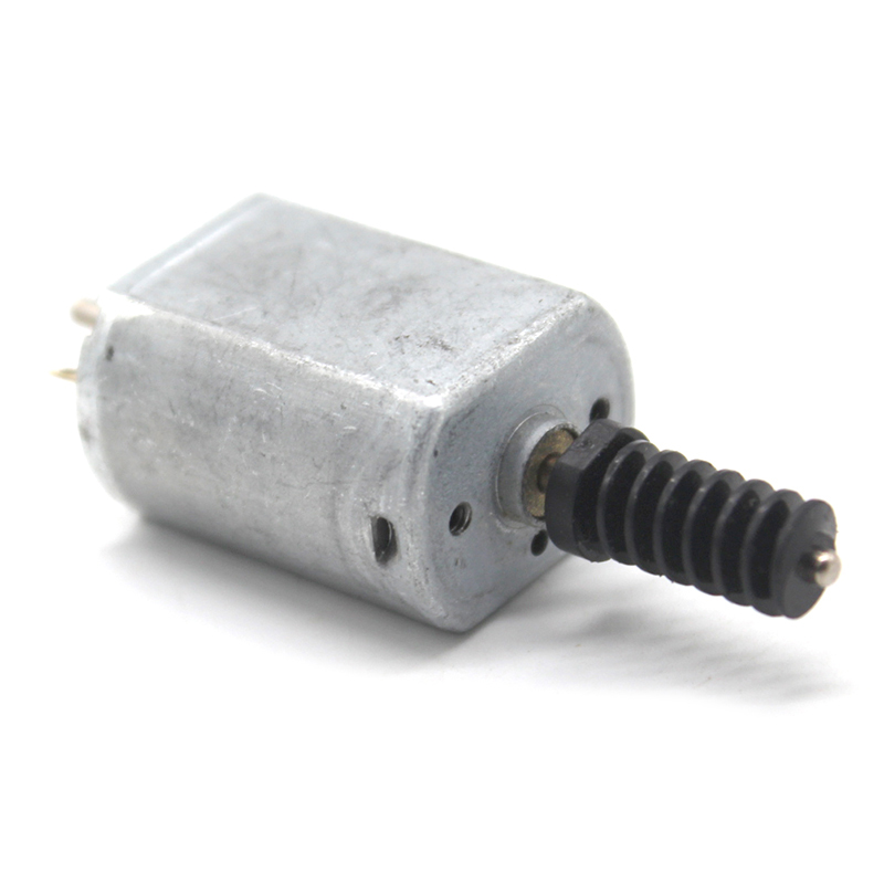 FK-130SH  DC 3V 5V 6V 4400RPM 25*15.3*20.3mm Long Dual Shaft Mini 0.6 Modulus Worm Gear DC Motor DIY RC Toy Model