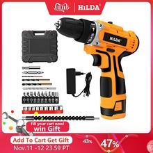 HILDA 16,8 V Elektrische Bohrer Mit Wiederaufladbare Lithium Batterie Elektrische Schraubendreher Akkuschrauber Zwei speed Power Tools