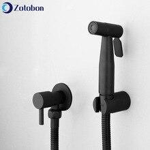 Faucet-Holder Sprayer-Set Shower-Head Toilet Bidet Bathroom-Use Black ZOTOBON for F372