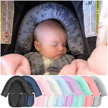 9 Colors Baby Hoofd Ondersteuning Kussen Met Minky Baby Head Support Pillow Headrest With Matching Seat Belt Strap Covers