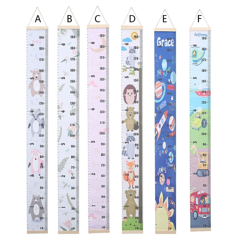Props Wooden Wall Hanging Baby Height Measure Ruler Wall Sticker Decorative Child Kids Growth Chart For Bedroom Home Decoration