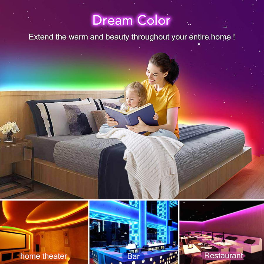 5050 LED Strip WIFI RGB RGBW RGBWW 5M 10M 15M RGB Led Color Changeable Flexible LED 5050 LED Strip WIFI RGB RGBW RGBWW 5M 10M 15M RGB Led Color Changeable Flexible LED Strip Light + WIFI Remote Controller + Power