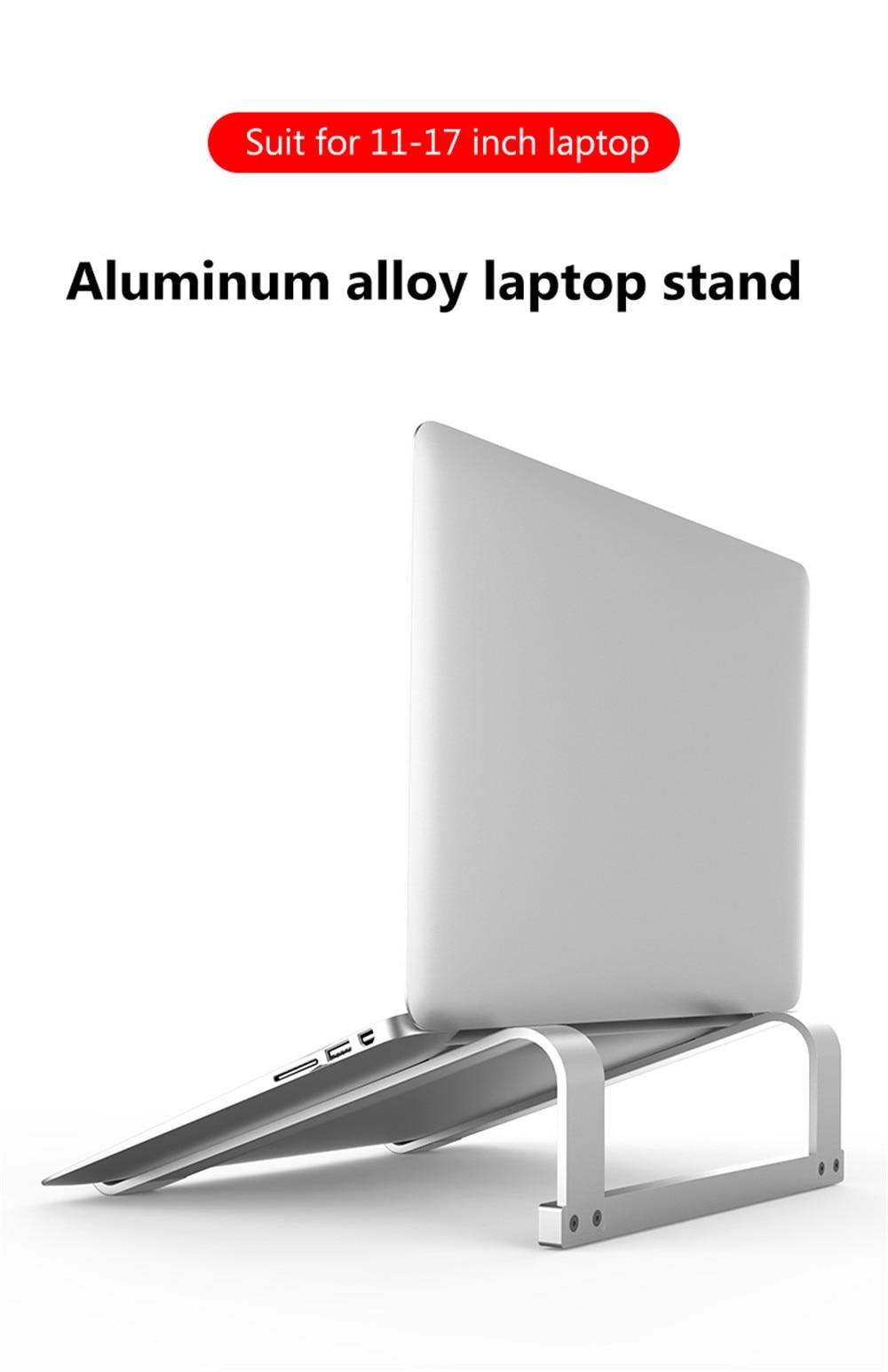 Adjustable Aluminum Laptop Stand Portable Notebook Support Holder